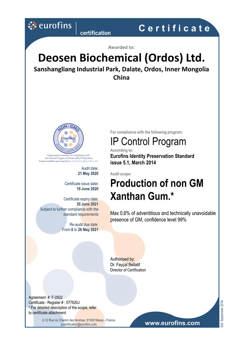 Production of Non GM Xanthan Gum